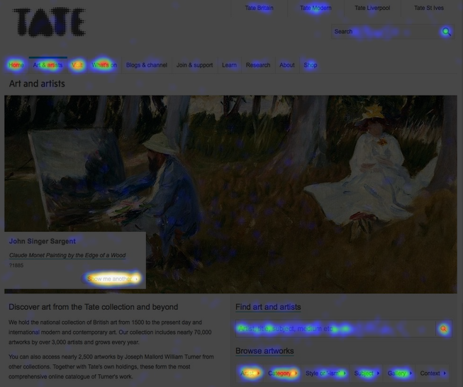 Heatmap art and artists landing page