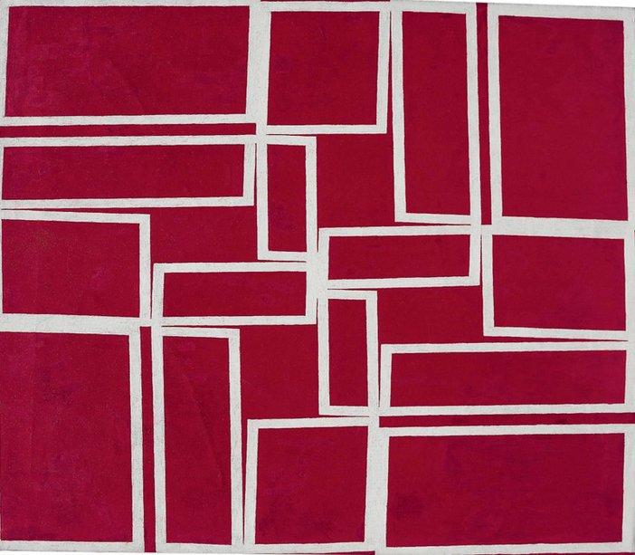 Hélio Oiticica Metaesquema – Red going through White 1958