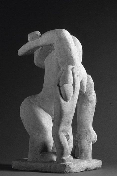 A figurative Portland stone sculpture by Henri Gaudier-Brzeska