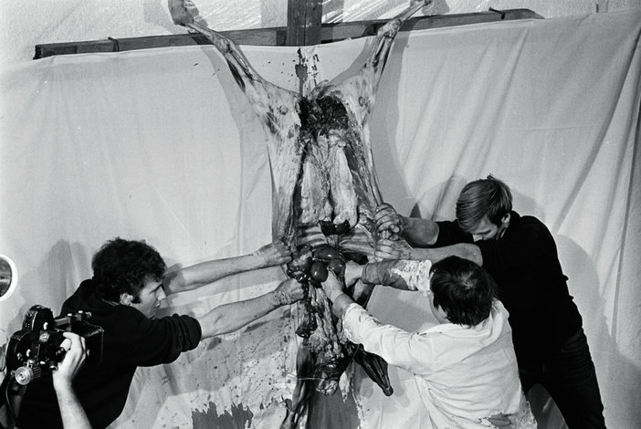 Hermann Nitsch Action 1968 Documentation of performance