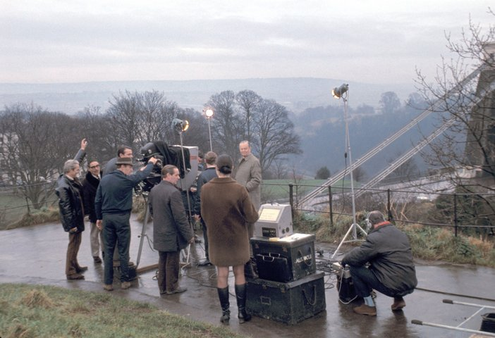 Production shot of Kenneth Clark Courtesy BBC Archives
