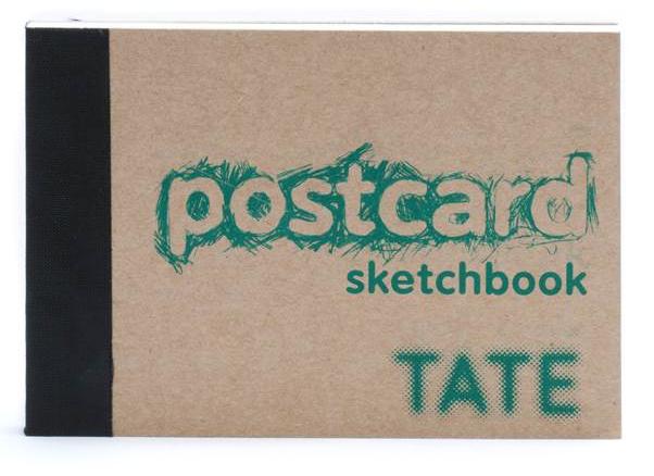 Teal Postcard Sketchbook A6