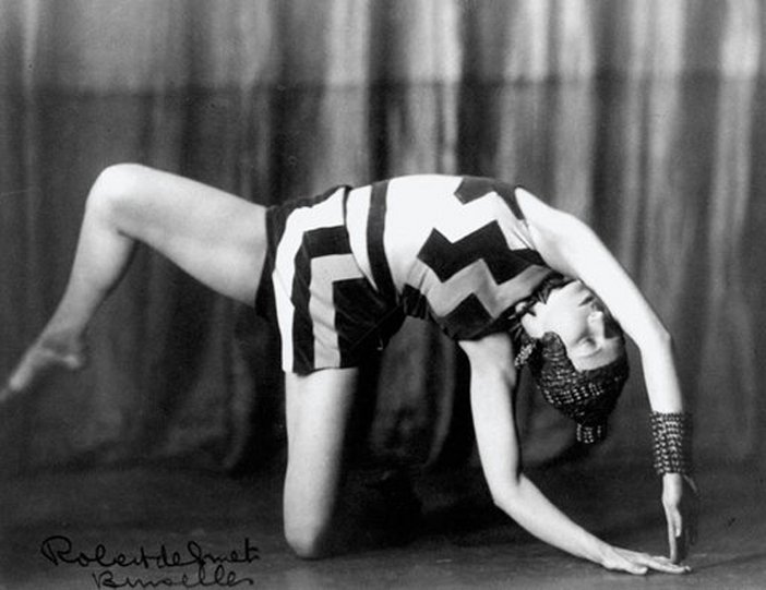 The Belgian dancer and choreographer Akarova in Allegro Barbaro wearing a costume of her own design 1929