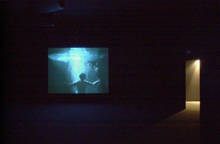 Installation view of Bill Viola Five Angels of the Millennium 2001