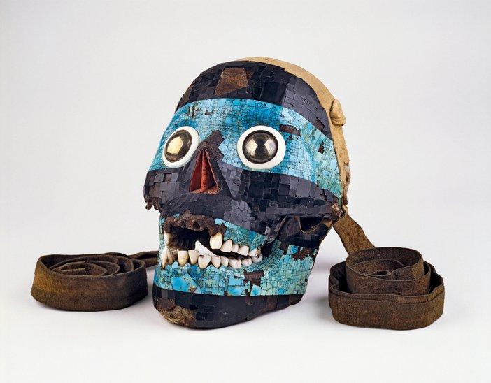 Mosaic mask of Tezcatlipoca, Aztec/ Mixtec, 15–16th century, Mexico