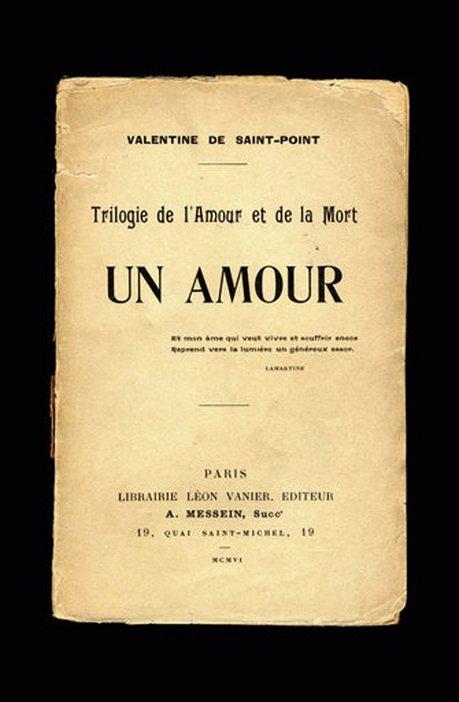 Title page of Valentine de Saint Point Un Amour