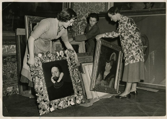 Tate Paintings moved from the lower ground floor as flood precaution in February 1953