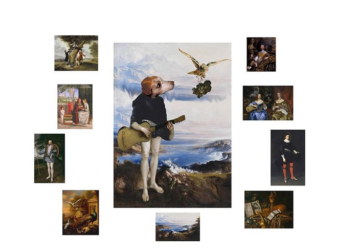 Collage of artworks