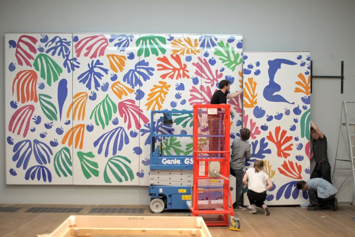 Henri Matisse The Cut-Outs installation The Parakeet and the Mermaid 2014