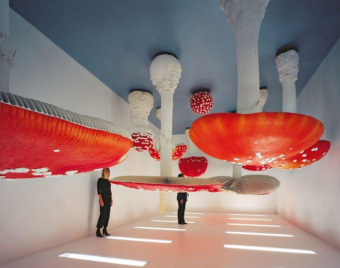 Installation view of Carsten Holler Upside Down Mushroom Room