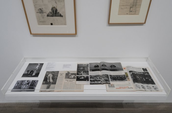 Installation view of the Robert Rauschenberg exhibition at Tate Modern, 1 December 2016 – 2 April 2017