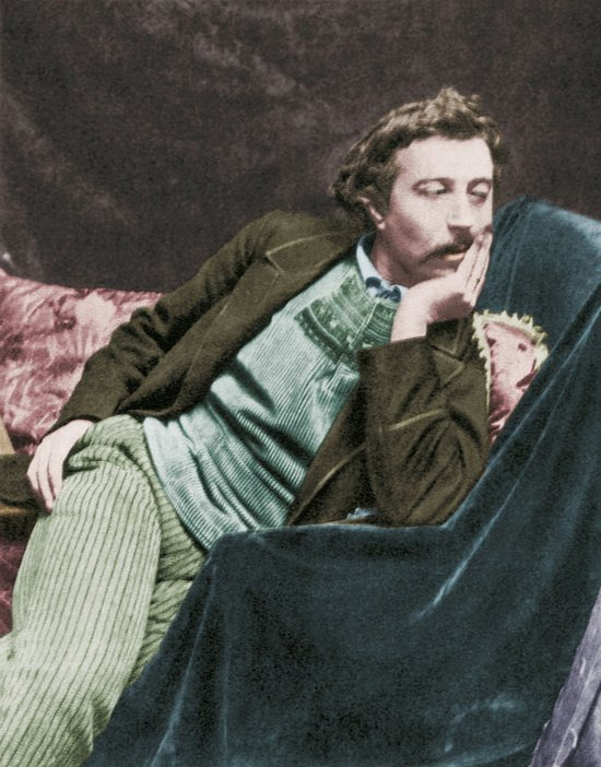 Hand-tinted portrait of Paul Gauguin 1891