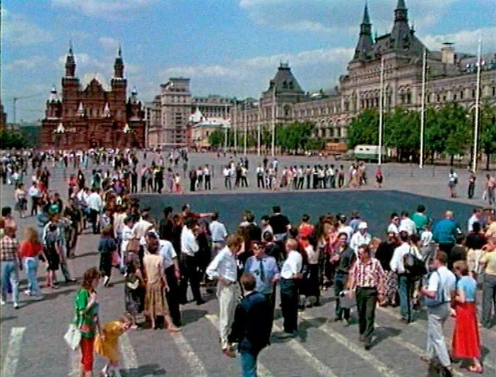 Irwin, film stills from the performance Black Square on Red Square 1992