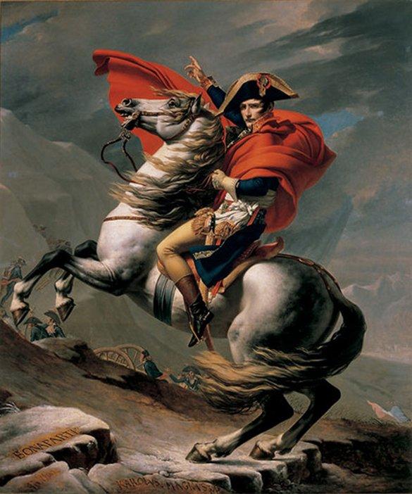 Jacques-Louis David Napoleon Crossing the St Bernard Pass c.1801