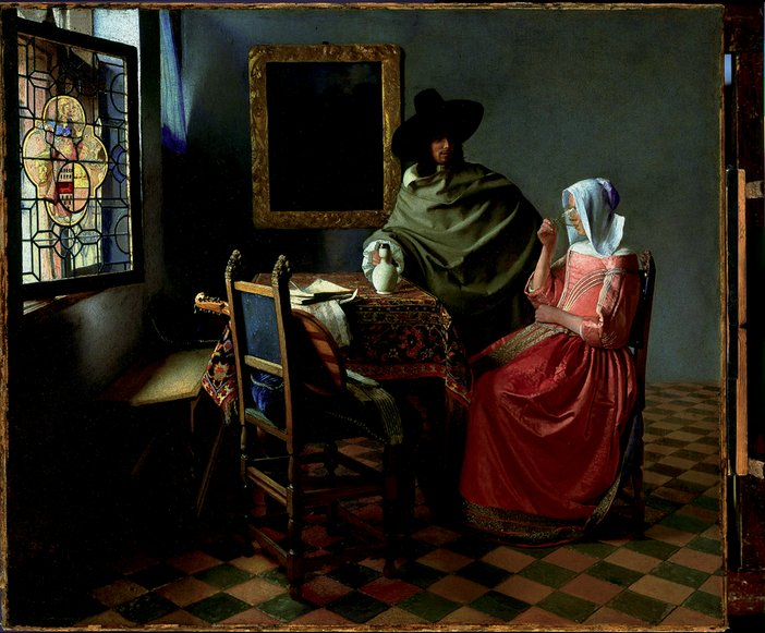 Jan Vermeer The Glass of Wine 1661–2