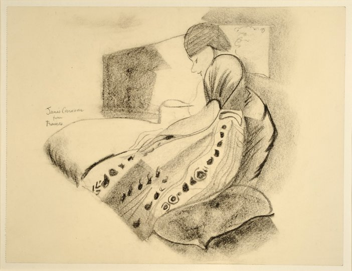 Drawing of Jane Saunders by Frances Hodgkins