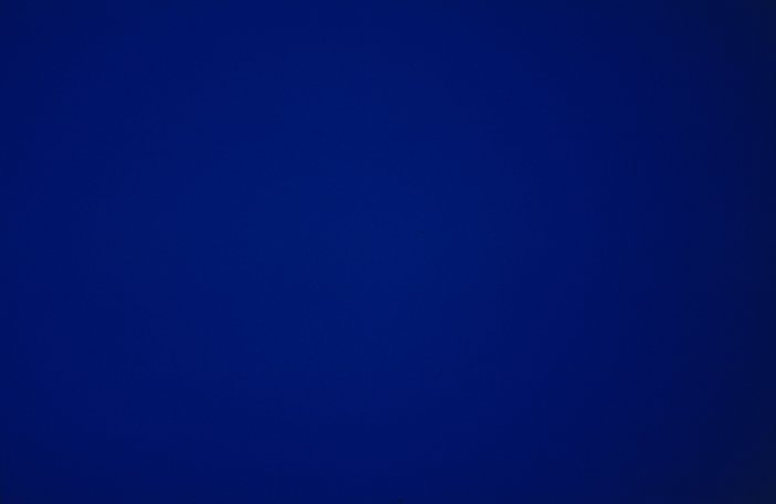 Derek Jarman still from Blue on display at Tate Modern
