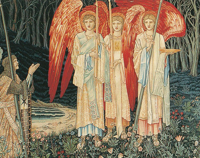 Edward Coley Burne-Jones. The Attainment: The Vision of the Holy Grail to Sir Galahad, Sir Bors and Sir Percival