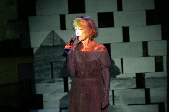 Joan Jonas, Helen in Egypt: Lines in the Sand 2004