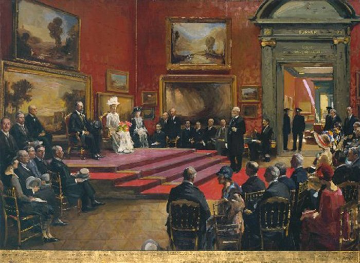 John Lavery's The Opening of the Modern Foreign and Sargent Galleries