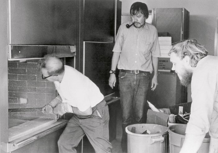 John Baldessari overseeing Cremation Project !970
