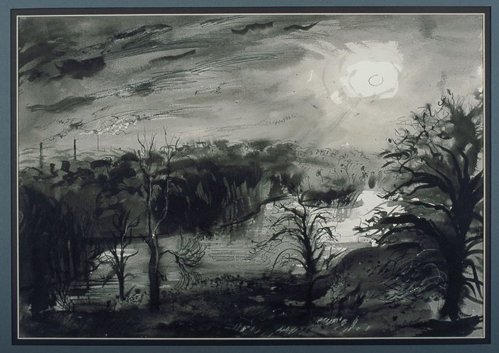 John Piper The Moon Over the Lake Renishaw 1942