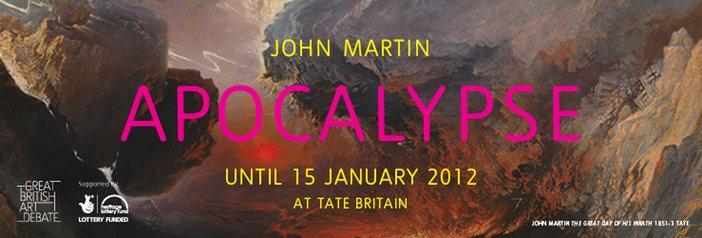 John Martin exhibition banner