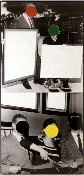 John Baldessari, Cutting Ribbon, Man In Wheelchair 1988