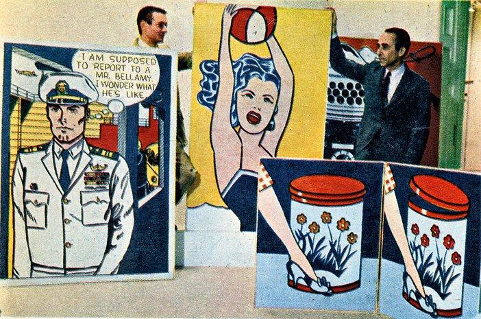Roy Lichtenstein and Leo Castelli at the Leo Castelli Gallery in New York