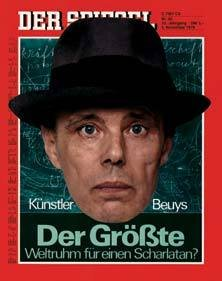 Joseph Beuys on the cover of Der Spiegel 5 November 1979