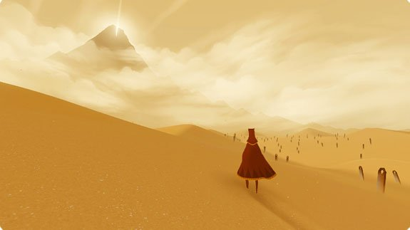 Art direction in video games Journey 1