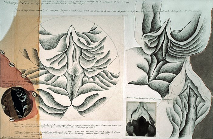 Judy Chicago, Study for Georgia O'Keeffe for The Dinner Party, 1974–9