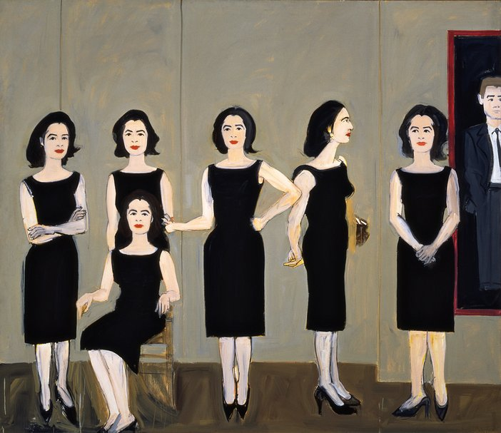 Alex Katz The Black Dress 1960