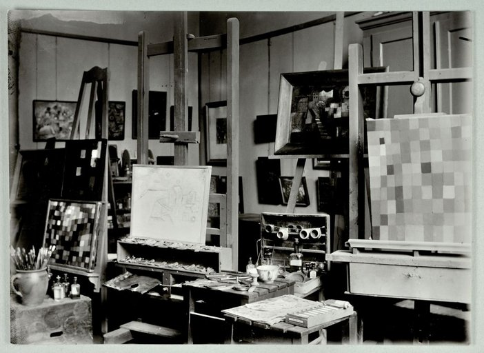 Paul Klee's studio at the Bauhaus, Weimar, 1925