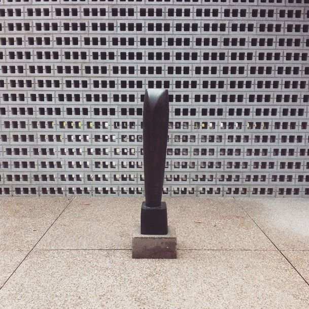 Barbara Hepworth Single Form in the Rietveld Pavilion Kroller-Muller Museum