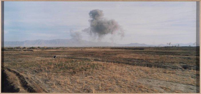 Luc Delahaye US Bombing on Taliban Positions c2001