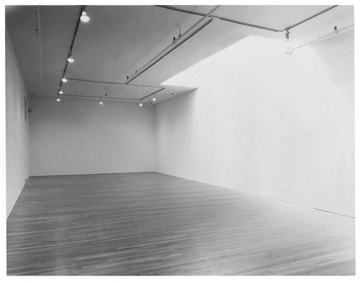 Laurie Parsons 578 Broadway 11th Floor 1990 at Lorence Monk Gallery photograph of an empty white gallery