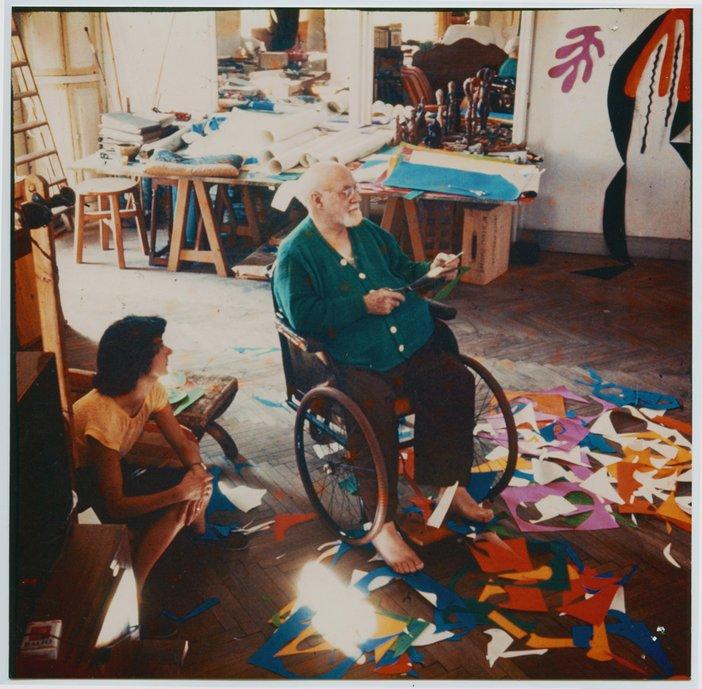 Lydia Delectorskaya, Matisse at the Hôtel Régina, Nice, c. 1952 Henri Matisse (1869 -1964) Photographer: Lydia Delectorskaya