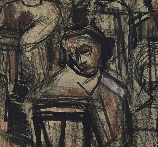 Leon Kossoff Saturday Morning Class (detail)