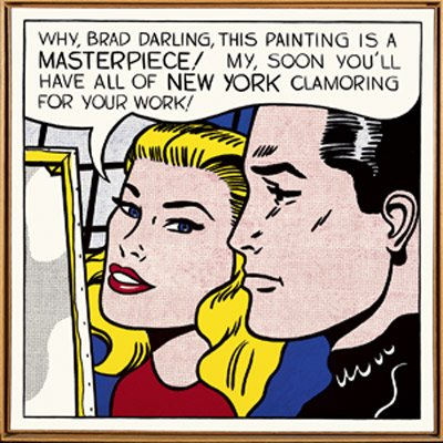 Roy Lichtenstein, Masterpiece 1962.  Private collection
