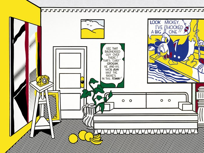 Lichtenstein Artists Studio Look Mickey 1973