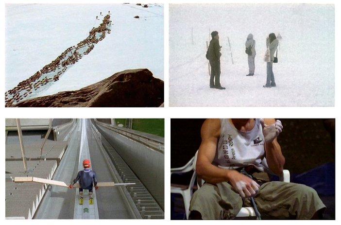 Film stills from Armin Linke video installation Alpi Film Project H