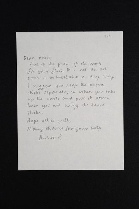 Letter from Circle of Sticks Richard Long