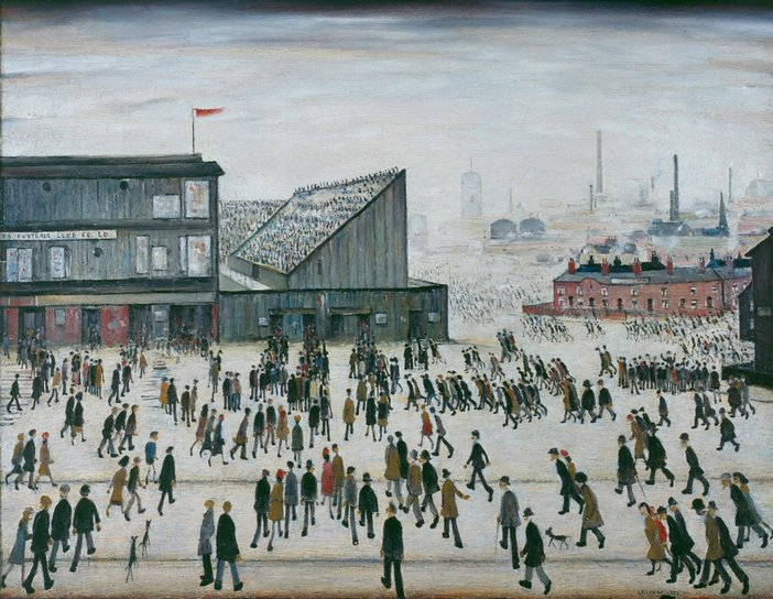 L.S. Lowry, Going to the Match, 1953, Professional Footballers' Association.