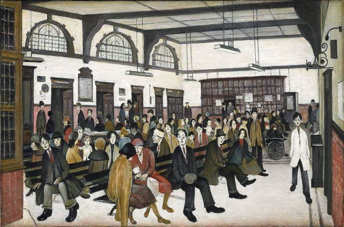 L.S. Lowry Ancoats Hospital Outpatients' Hall 1952