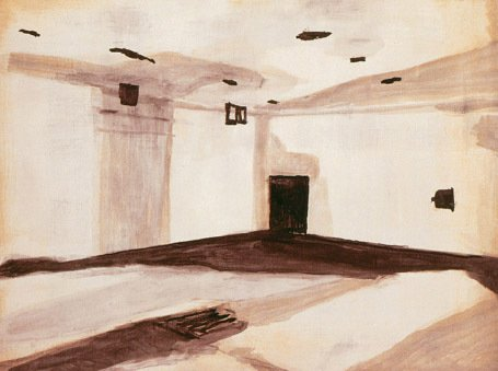 Luc Tuymans Gas Chamber 1986 Oil on canvas