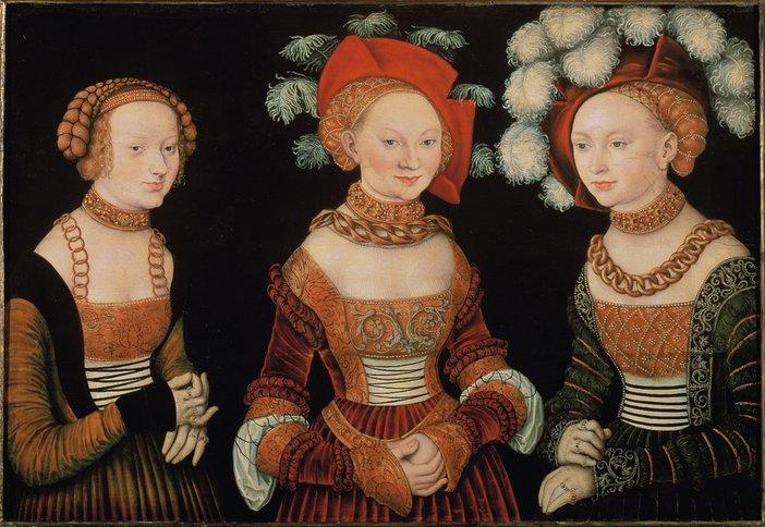 Lucas Cranach the Elder Three Princesses of Saxony: Sibylla, Emilia and Sidonia c.1535