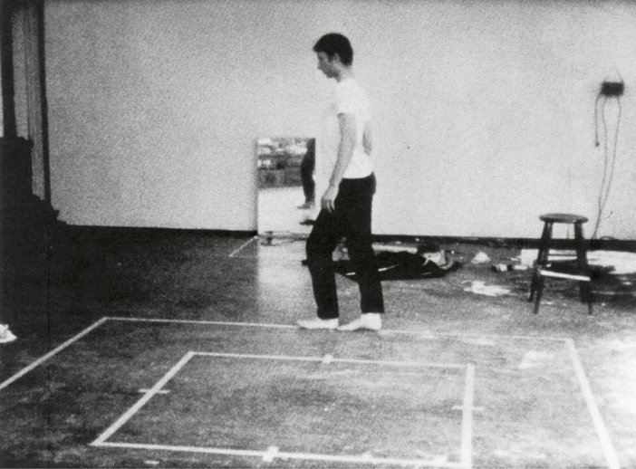 Bruce Nauman Walking in an Exaggerated Manner around the Perimeter of a Square