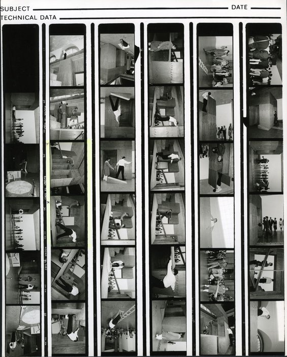 Bruce McLean, Good Manners and Physical Violence 1985, contact sheet