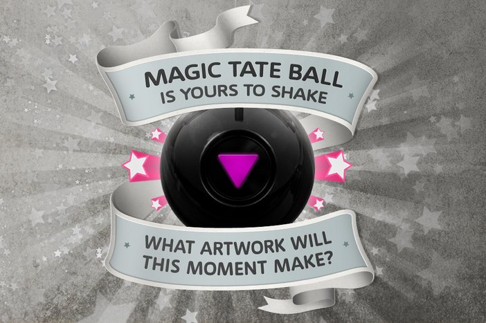 Promotion banner for the new Magic Tate Ball mobile app